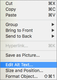 "Image demonstrates the right-click context menu with ""Edit Alt Text..."" selected."