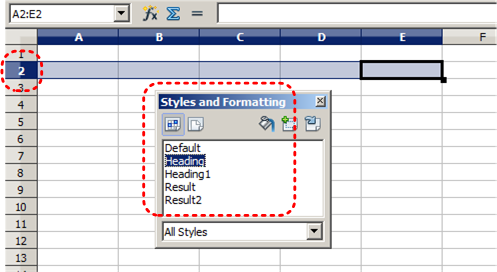 Image demonstrates location of formatting styles options in Styles and Formatting dialog.