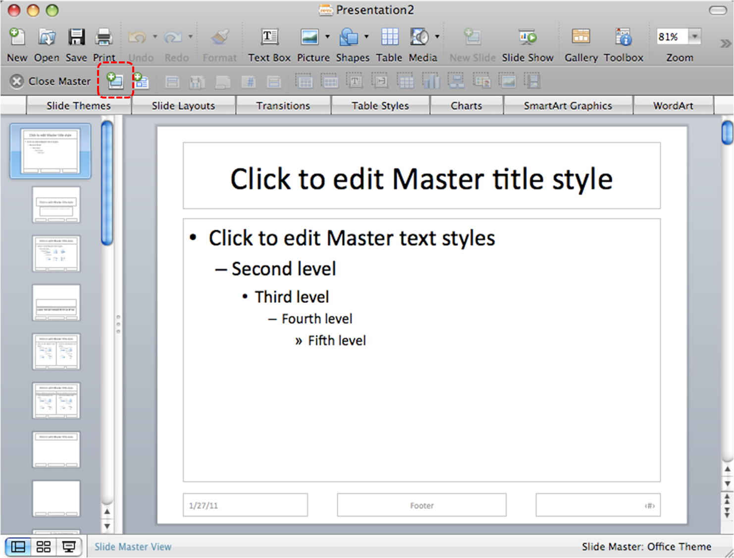 Microsoft PowerPoint for Mac 2008, 2011, 2016, and 2019 ...