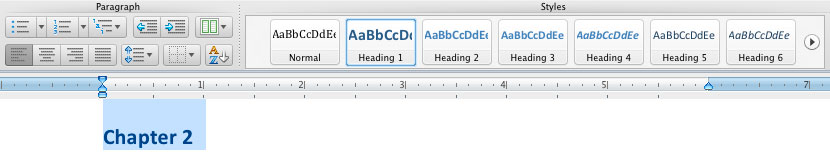 Image demonstrates the importance of changing the heading of the contents that will be on table of contents.