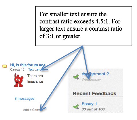 example graphic used to enhance text description of an accessibility issue