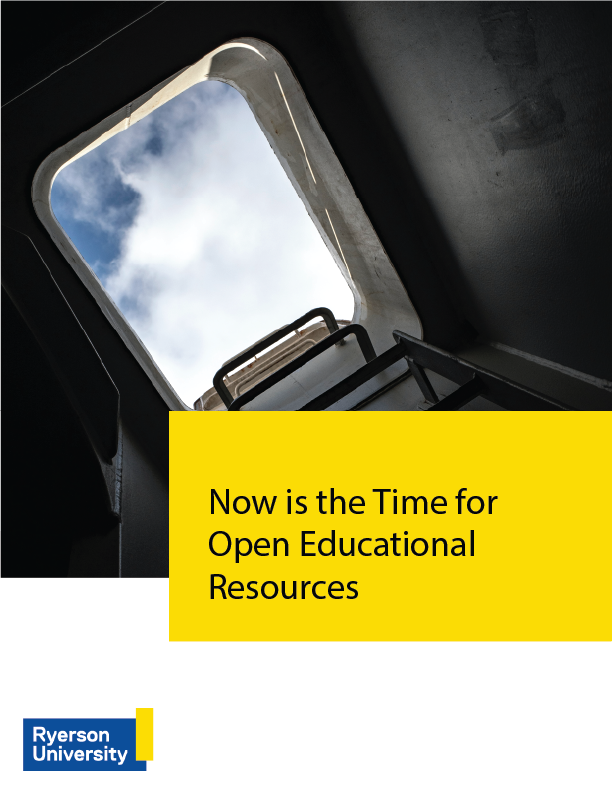 Cover image for Now is the Time for Open Educational Resources
